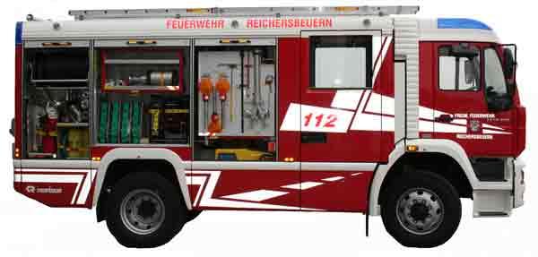 Tanklöschfahrzeug 16/25 (TLF 16/25) Seiten Beifahrer