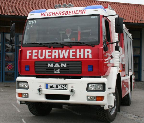 Tanklöschfahrzeug 16/25 (TLF 16/25) Vorne